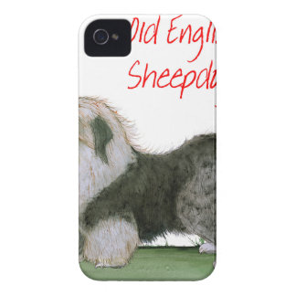 we luv old english sheepdogs, Tony Fernandes iPhone 4 Case-Mate Case