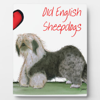 we luv old english sheepdogs, Tony Fernandes Plaque
