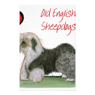 we luv old english sheepdogs, Tony Fernandes Stationery
