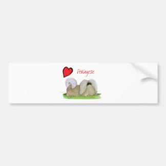 we luv pekingese from Tony Fernandes Bumper Sticker