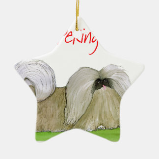 we luv pekingese from Tony Fernandes Ceramic Star Decoration