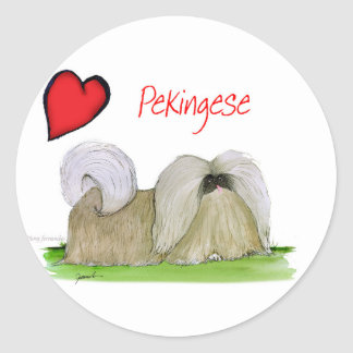 we luv pekingese from Tony Fernandes Classic Round Sticker