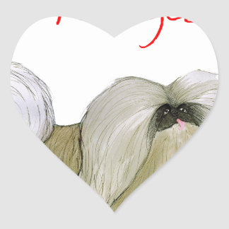 we luv pekingese from Tony Fernandes Heart Sticker
