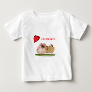 we luv pomeranians from Tony Fernandes Baby T-Shirt