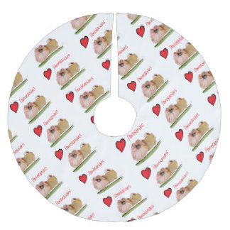 we luv pomeranians from Tony Fernandes Brushed Polyester Tree Skirt