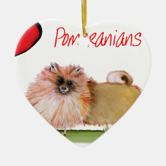 we luv pomeranians from Tony Fernandes Ceramic Heart Decoration