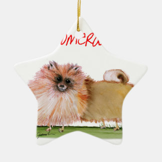 we luv pomeranians from Tony Fernandes Ceramic Star Decoration