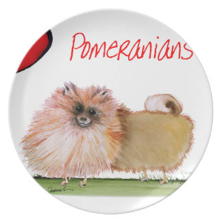 we luv pomeranians from Tony Fernandes Party Plates