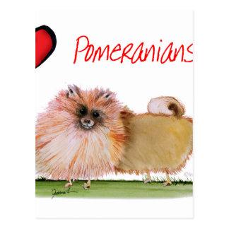 we luv pomeranians from Tony Fernandes Postcard