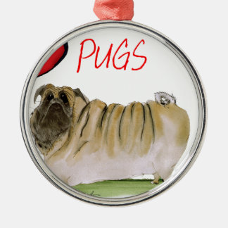 we luv pugs from Tony Fernandes Christmas Ornament