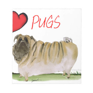 we luv pugs from Tony Fernandes Notepads