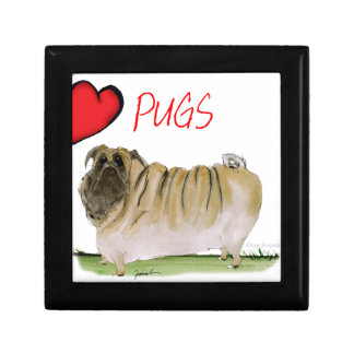 we luv pugs from Tony Fernandes Small Square Gift Box