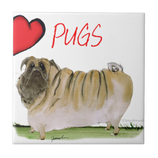 we luv pugs from Tony Fernandes Tile