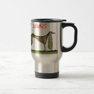 we luv salukis from Tony Fernandes Travel Mug