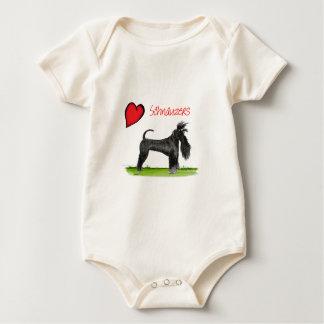 we luv schnauzers from tony fernandes baby bodysuit