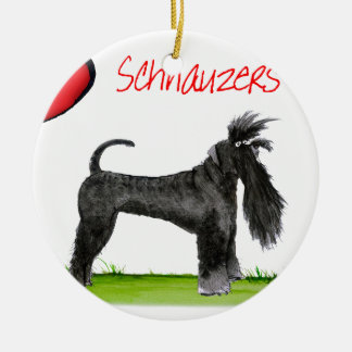 we luv schnauzers from tony fernandes round ceramic decoration