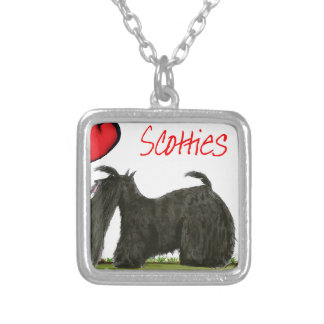 we luv scotties from Tony Fernandes Silver Plated Necklace