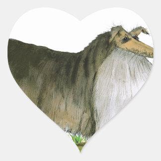 we luv shetland sheepdogs from Tony Fernandes Heart Sticker