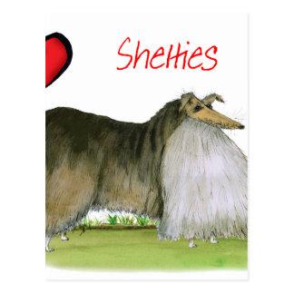 we luv shetland sheepdogs from Tony Fernandes Postcard