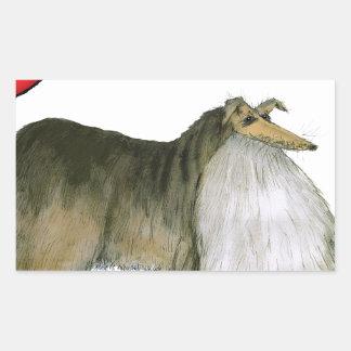 we luv shetland sheepdogs from Tony Fernandes Rectangular Sticker