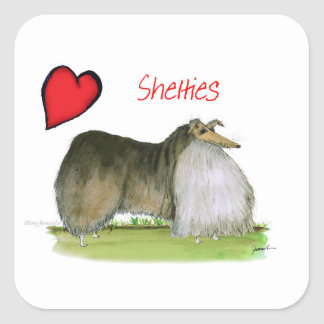 we luv shetland sheepdogs from Tony Fernandes Square Sticker