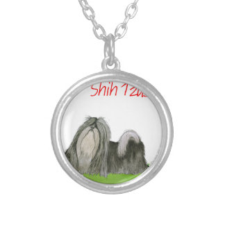 we luv shih tzus from Tony Fernandes Silver Plated Necklace