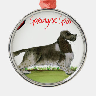 we luv springer spaniels from Tony Fernandes Silver-Colored Round Decoration
