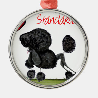 we luv standard poodles from Tony Fernandes Silver-Colored Round Decoration