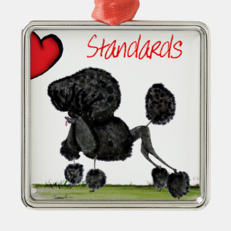 we luv standard poodles from Tony Fernandes Silver-Colored Square Decoration