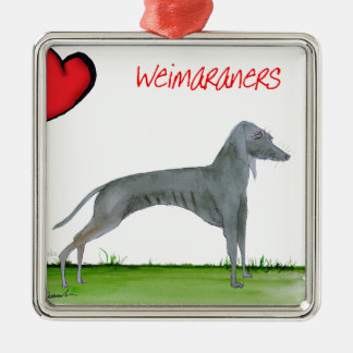 we luv weimaraners from Tony Fernandes Christmas Ornament