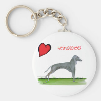 we luv weimaraners from Tony Fernandes Key Ring