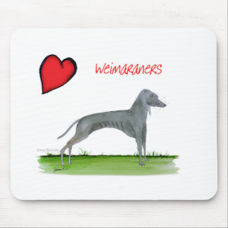we luv weimaraners from Tony Fernandes Mouse Mat