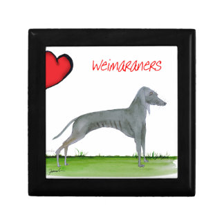 we luv weimaraners from Tony Fernandes Small Square Gift Box
