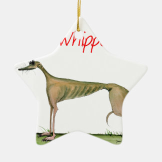 we luv whippets from Tony Fernandes Christmas Ornament