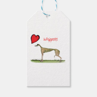 we luv whippets from Tony Fernandes Gift Tags