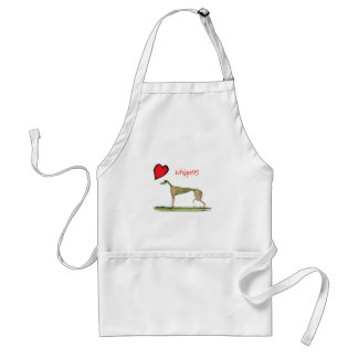 we luv whippets from Tony Fernandes Standard Apron