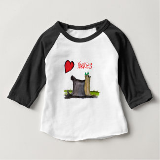 we luv yorkies from Tony Fernandes Baby T-Shirt