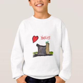 we luv yorkies from Tony Fernandes Sweatshirt