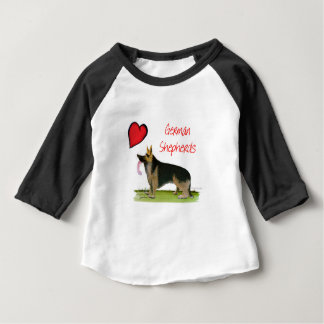 we luve german shepherds from Tony Fernandes Baby T-Shirt