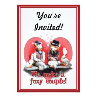 "We Make A Foxy Couple! 5"" X 7"" Invitation Card"