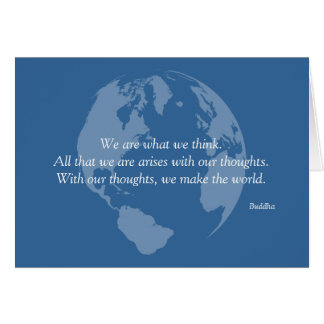 We Make the World Buddha Quote Cards