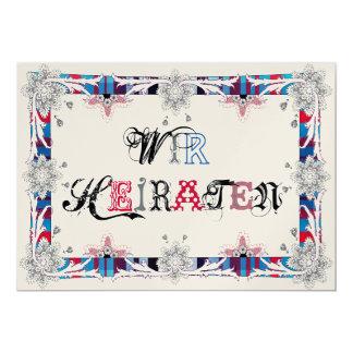 We marry 13 cm x 18 cm invitation card