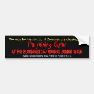 We may be friends 2 bumper sticker