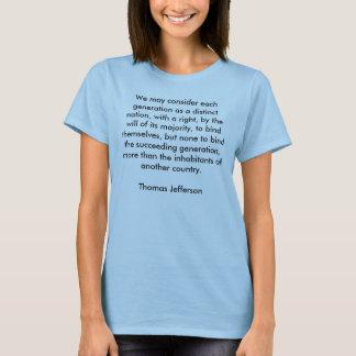 We may consider each generation as a distinct n... T-Shirt