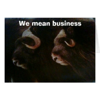 WE MEAN BUSINESS-GROUP BIRTHDAY GREETING CARD