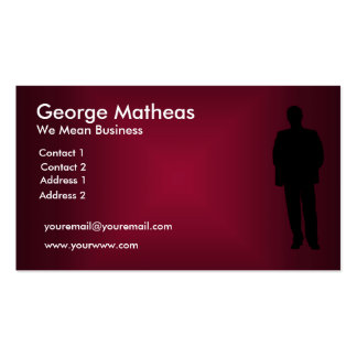 We mean Business Maroon Business Card