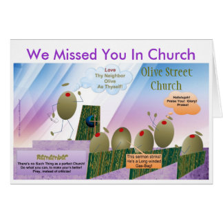 We Missed You In Church Card