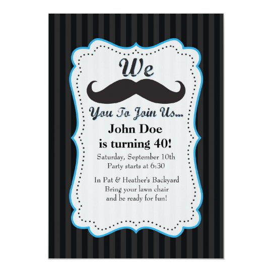 We Moustache You To Join Us Birthday Invitation! Card