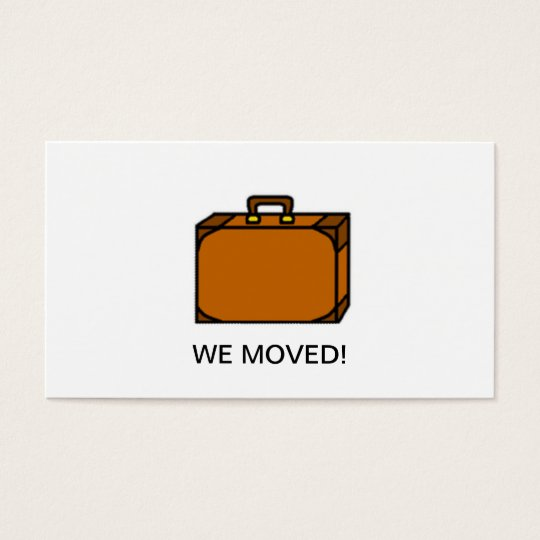 We Moved Change of Address Business Card