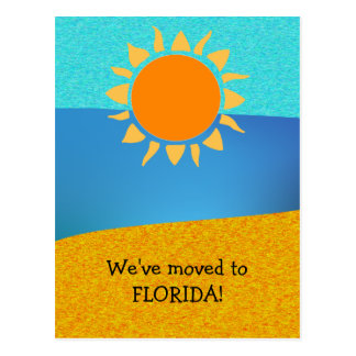 We Moved to Florida Change of Address Postcard
